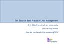 Ten Tips for Best Practice Lead Management
