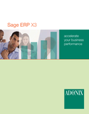 Sage ERP X3 Corporate Brochure (formally Adonix)