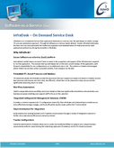 InfraDesk On Demand Service Desk Product Datasheet
