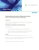 Understanding the Essentials of Multivariable Testing – Volume 3: The Arithmetic of Experimental Design