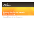 Ensuring High Service Levels in Cloud Computing