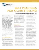 Best Practices for Killer E-tailing