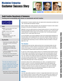 South Carolina Department of Commerce | Tracking and Accountability with Boosts to Investments and Job Creation using Maximizer