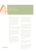 Onyx has helped ASB become NZ fastest growing major bank