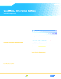 GoldMine® Enterprise Edition - Sales Management
