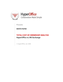 Microsoft Exchange vs HyperOffice Online Collaboration Suite  : A Total Cost of Ownership Analysis