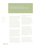 Onyx Customer Success Story: International SOS