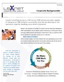 Lexnet Corporate Backgrounder