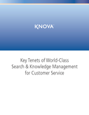 Key Tenets of World-Class Search & Knowledge Management for Customer Service