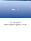 Ten Principles for Knowledge Management Success