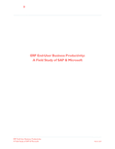 ERP End-User Business Productivity: A Field Study of SAP & Microsoft