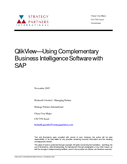 QlikView—Using Complementary Business Intelligence Software with SAP