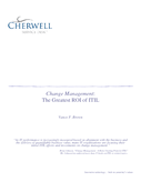 Change Management: The Greatest ROI of ITIL