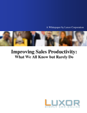 Improving Sales Productivity - What We All Know but Rarely Do