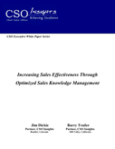 CSO Insights: Increasing Sales Effectiveness Through Optimized sales Knowledge Management