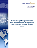 Competency Management: The Link Between Talent Management and Optimum Business Results