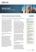 Medway Council Puts Customers First with a Consolidated Contact Centre Built Around Onyx OneServe Employee Portal
