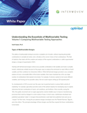 Understanding the Essentials of Multivariable Testing – Volume 1: Comparing Multivariable Testing Approaches