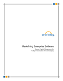 Redefining Enterprise Software: Human Capital Management for today's information-driven company