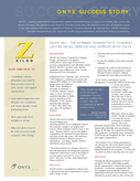 Zilog Inc., The Extreme Connectivity Company, Unifies Sales, Service, and Support with Onyx