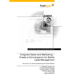 Integrate Sales and Marketing - Create a Convergence for Better Lead Management