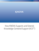 How KNOVA Supports and Extends Knowledge-Centered Support (KCS)
