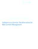 Software-as-a-Service: The Alternative for Web Content Management