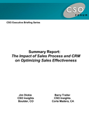 The Impact of Sales Process and CRM on Optimizing Sales Effectiveness