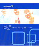 GoldMine® Enterprise - Software The Way YOU Want It
